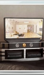 Black TV Cabinet set /  Home Theater for Barbie