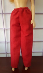 Red pants for Barbie