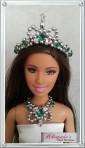 Emarald green jewelry set
