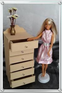 6 Drawer chest for Barbie dolls