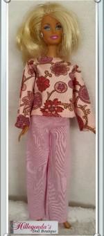 Pink Barbie doll pajamas