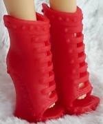 Red shoes for Liv dolls