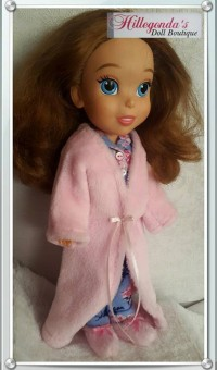 Light pink robe with slippers for Sofia