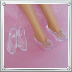 """Glass"" Barbie shoes"