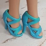 Blue criss-cross strappy sandals