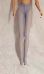 Blue stockings for Barbie dolls