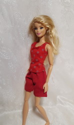 Red pJ's shorts with vest