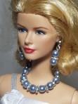 Blue jewelry set for Barbie dolls