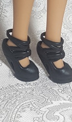Black super strappy heel shoes VII