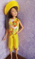 Sunflower capri pants ensemble for Skipper