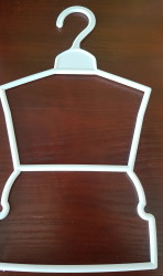 White dubbel hanger for 18″ doll clothes