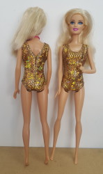 Golden Lycra leotard