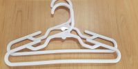 White hangers for 18″(46cm) doll clothes