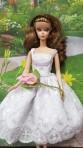 White dress for Barbie