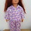 Purple and pink flannel pajamas for 18″Our Generation doll