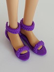 Purple shoes for small flat feet