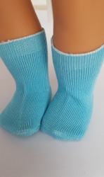 Blue socks for 18″ dolls