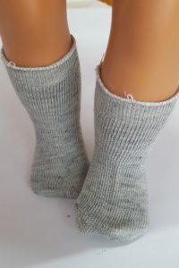 Grey socks for 18″ dolls