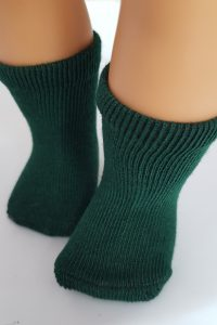 Dark green socks for 18″ dolls