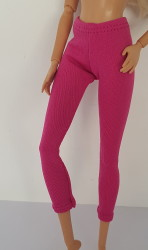 Dark pink long ski pants