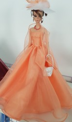 Apricot ball gown