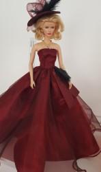 Burgundy ball gown