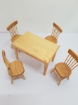 1:12 Dining table with 4 chairs