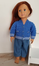 Blue jersey and pants for 18″ and Baby Born dolls