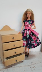 4 Drawer chest for Barbie dolls