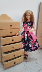 6 Drawer chest for Barbie dolls