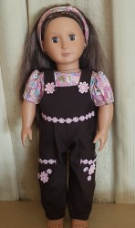 Brown overall set for 18″ Our Generation doll
