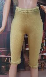 Knee hights golden ski pants