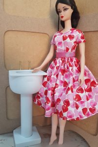 Basin for Barbie bathroom