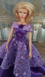 Purple and lilac dress