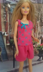 Pink and blue top and shorts PJ's