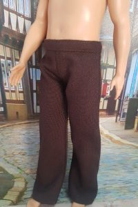 Dark brown trousers for Full Figure Ken