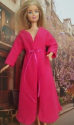 Dark pink long sleeve bathrobe III