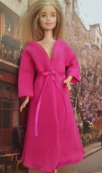 Dark pink long sleeve bathrobe I