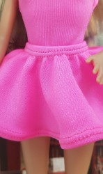 Bright pink ballerina skirt