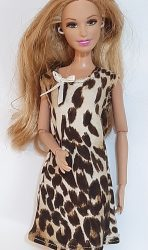Leopard skin PJ shirt for Barbie