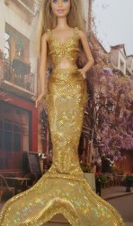 Golden Mermaid clothes