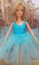 Aqua blue tutu with leotard