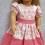 Pink polka dot strawberry dress