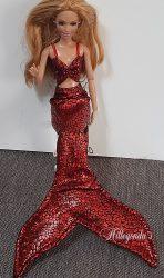 Red mermaid set