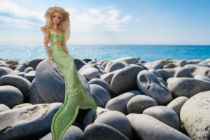 Green mermaid set