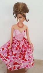 Pink and red Valentine's dress