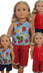 3 pieces, 4 looks set for 18″ Our Generation dolls