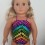 Multi color leotard for 18″ Our Generation dolls