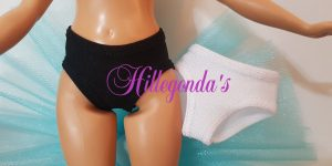 Set of 2 panties for Curvy Barbie – various colors