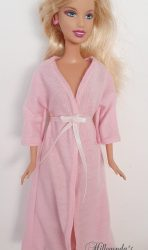 Light pink long sleeve bathrobe I